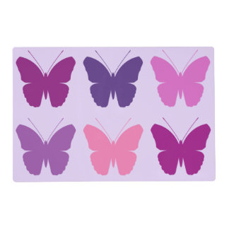 Butterfly 3x2 Pattern Pinks Purples Mauves Lilac Placemat