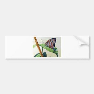 Butterfly 4, Garden, Watercolor Painting, Art Bumper Sticker