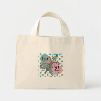 Butterfly 4th Birthday Tshirts and Gifts Tote Bag
