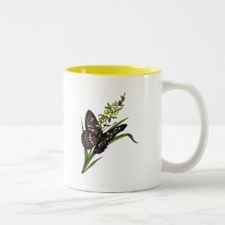 Butterfly 5 Two-Tone coffee mug