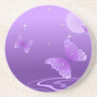 butterfly-69998 cartoon butterfly purple white vec drink coasters
