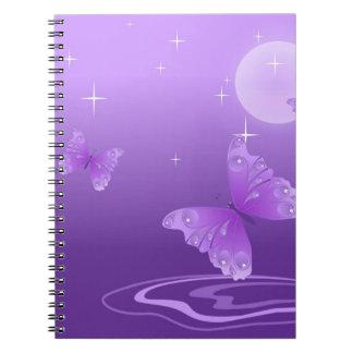 butterfly-69998 cartoon butterfly purple white vec note books