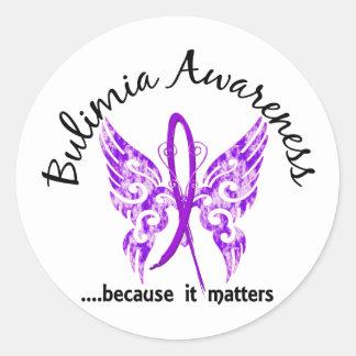 Butterfly 6.1 Bulimia Classic Round Sticker