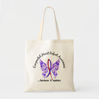 Butterfly 6.1 Congenital Heart Defects Tote Bag