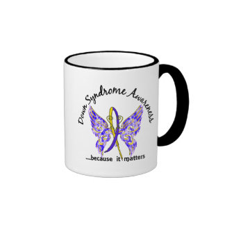 Butterfly 6.1 Down Syndrome Ringer Coffee Mug
