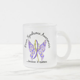 Butterfly 6.1 Down Syndrome 10 Oz Frosted Glass Coffee Mug