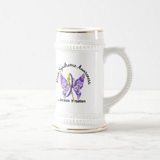 Butterfly 6.1 Down Syndrome 18 Oz Beer Stein