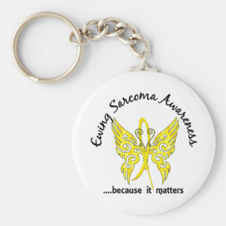 Butterfly 6.1 Ewing Sarcoma Keychain