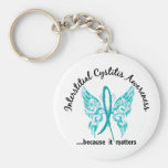 Butterfly 6.1 Interstitial Cystitis Basic Round Button Keychain