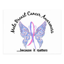 Butterfly 6.1 Male Breast Cancer Postcard