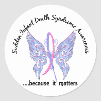 Butterfly 6.1 SIDS Round Sticker