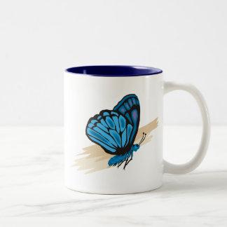 Butterfly 7 Two-Tone coffee mug