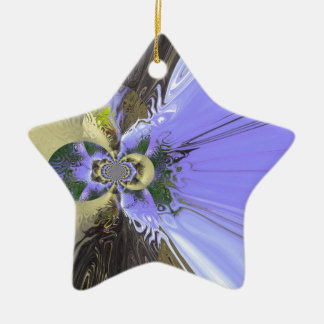 Butterfly Abstract Ceramic Ornament