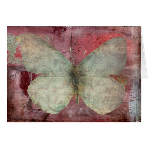 butterfly abstract greeting card