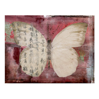 butterfly abstract postcard