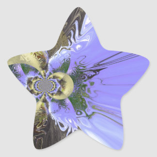 Butterfly Abstract Star Sticker
