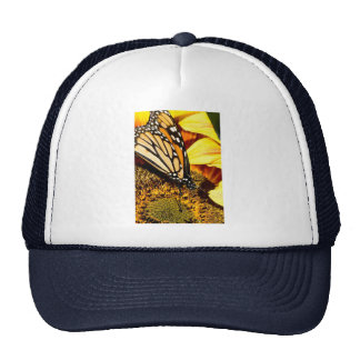 butterfly abstract trucker hat