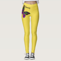 Butterfly ADD YOUR NAME Leggings