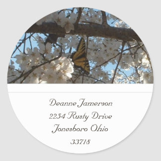 Butterfly Address Stickers