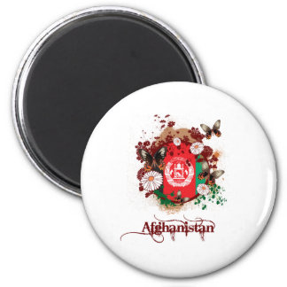 Butterfly Afghanistan 2 Inch Round Magnet