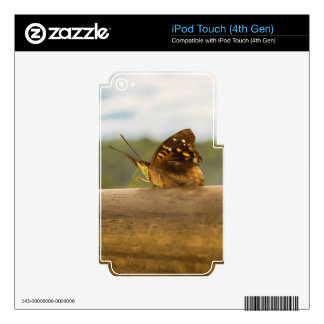 Butterfly against Blur Background at Iguazu Park iPod Touch 4G Decals