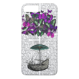 Butterfly Airship 2 Purple and Green iPhone 7 Plus Case