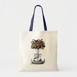 Butterfly Airship Tote Bag