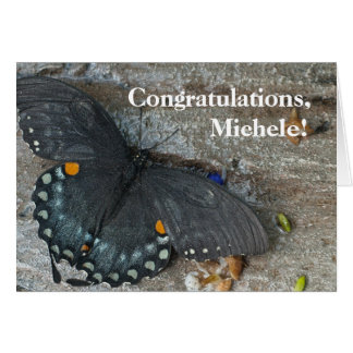 Butterfly All-Occasion Template Greeting Card