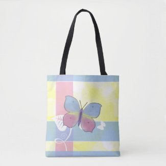 Butterfly - All Over Print Tote Bolsa De Tela