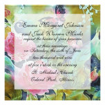 butterfly among the roses custom announcements