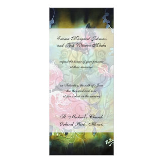 butterfly among the roses invitation