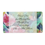 butterfly among the roses personalized shipping label