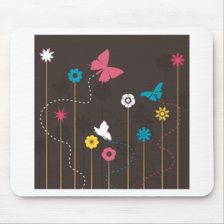 Butterfly and a flower3 mouse pad