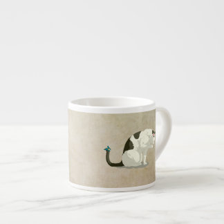 Butterfly and Bathing Cat Espresso Cup