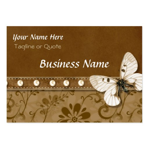 Butterfly and Beads Large Business Card
