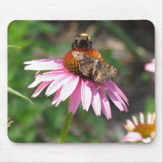 Butterfly and Bee Mouse Pad