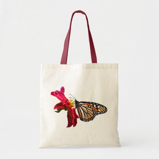Butterfly and Blossom Tote Budget Tote Bag