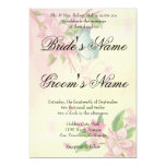 """Butterfly and Blossoms 5"""" X 7"""" Invitation Card"""