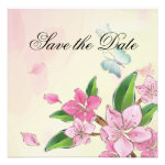 Butterfly and Blossoms Personalized Invites