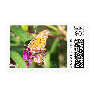 Butterfly and Bush Stamp