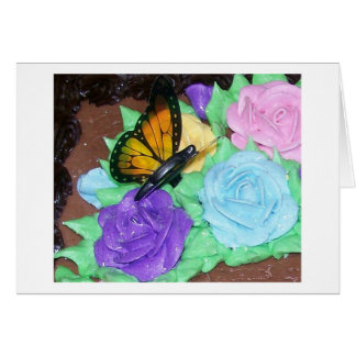 Butterfly and Buttercream Roses Notecard