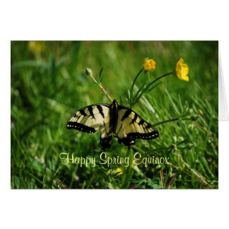 Butterfly and Buttercups Spring Equinox Greeting Card