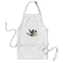 butterfly, butterflies, flowers, al rio, nature, animals, Apron with custom graphic design