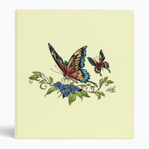 butterfly, butterflies, flowers, al rio, nature, animals, Binder with custom graphic design