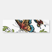 butterfly, butterflies, flowers, al rio, nature, animals, Bumper Sticker with custom graphic design