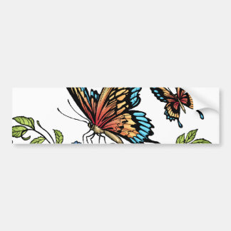 Butterfly and Butterflies full color by Al Rio Car Bumper Sticker