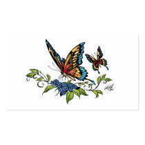 butterfly, butterflies, flowers, al rio, nature, animals, Business Card with custom graphic design