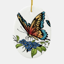 butterfly, butterflies, flowers, al rio, nature, animals, Ornament with custom graphic design