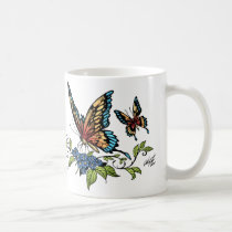 butterfly, butterflies, flowers, al rio, nature, animals, Mug with custom graphic design