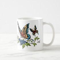 butterfly, butterflies, flowers, al rio, nature, animals, Caneca com design gráfico personalizado